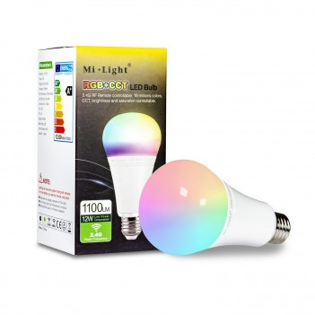 Mi-Light 12W E27 RGB+CCT LED Bulb Remote Controllable FUT105