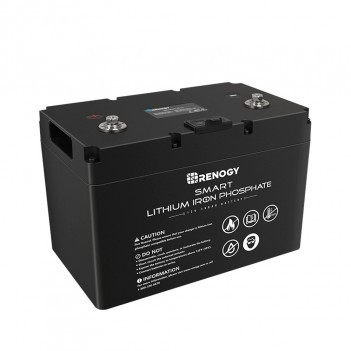 RENOGY BATTERIA LIFEPO4 LITIO FERRO FOSFATO SMART 12 VOLT 100AH