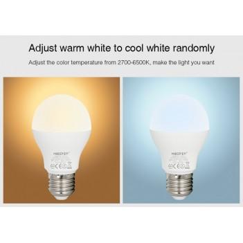 Mi-Light 6W Bombilla LED WiFi E27 RGB+CCT, 4GHz RF controlable