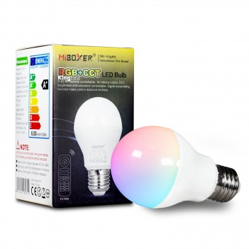 MiBoxer Mi-Light Lampadina Led E27 6W RGB+CCT WiFi FUT014