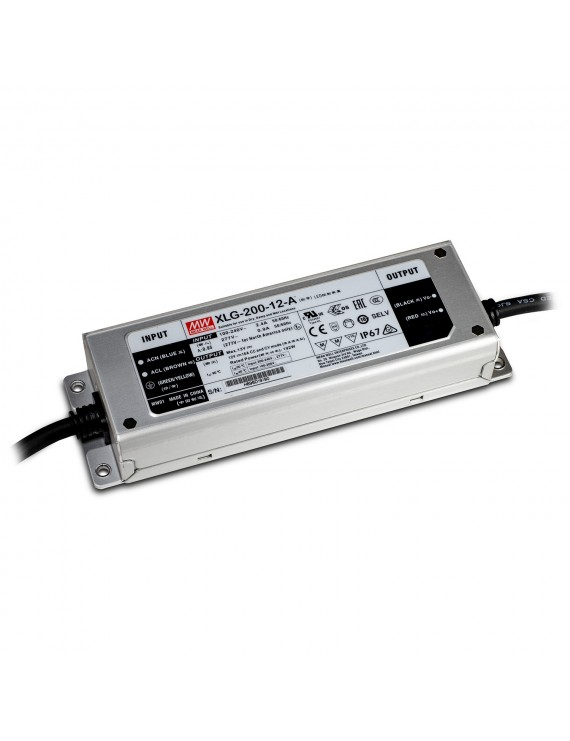 Alimentatore MeanWell 200W 12V IP67 XLG-200-12A