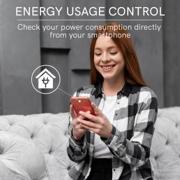 Presa Bipasso 16A con Lettura Consumo - Smart WiFi Compatibile