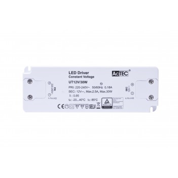 Actec Power Supply UT 30W 12V - Ultra Thin for Furniture