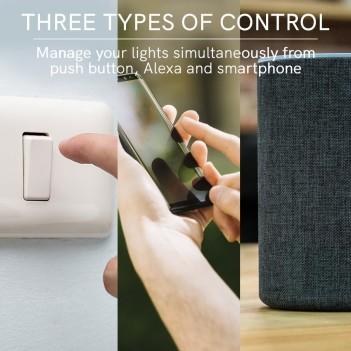 Modulo Dimmer WiFi 2 CH - Compatibile con Alexa, Google e
