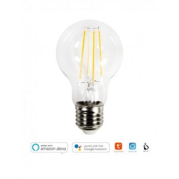 Lampadina Led Smart WiFi A60 Filamento E27 7W 800lm 2700K -