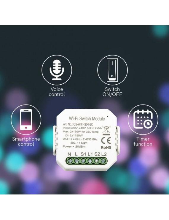 KiWi - WiFi à double interrupteur - Interrupteur on / off 2