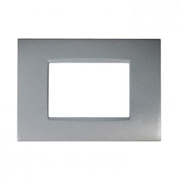 Placca Metallo 3P Grigio...