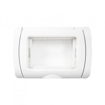 Placca Idrobox IP55 3 Moduli T2 S6003B/N Bianco / Nero