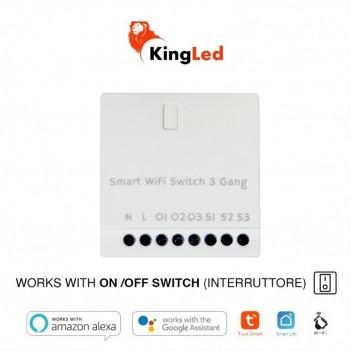 Modulo Interruttore Smart WiFi 3 CH AC 230V - Compatibile con Alexa, Google e Smartphone
