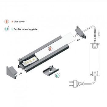 Profilo in Alluminio Angolare 30°/60° Modello CORNER10 - Nero