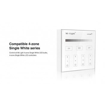 Mi-Light Wall Remote Wifi Dimmer 4 Zones Full Touch B1