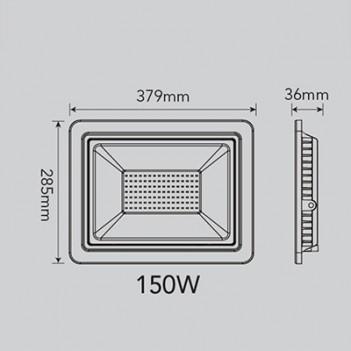 Proiettore per Esterno 150W 12000 Lumen Nominali IP65 - FSL Nero