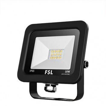 Faro Proiettore Led per Esterno 10W 800 Lumen IP65 - FSL Nero