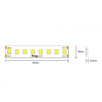 Striscia led serie H.E. 130W 18000lm 24V IP65 PCB 10mm bobina
