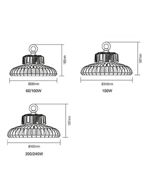 Campana UFO 240W 27860lm 4000K Led Philips