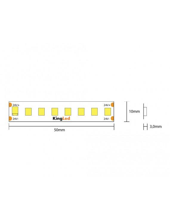 Striscia Led Serie H.E. 60W 9000lm 24V IP20 PCB 8mm bobina da