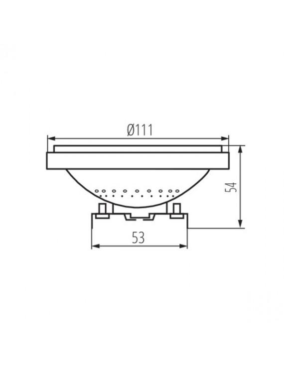 Kanlux - Lampadina Led AR111 DC 12V 11W 900lm Silver