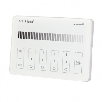 Mi-Light Telecomando da Muro WiFi Dimmer 4 Zone Full Touch M1