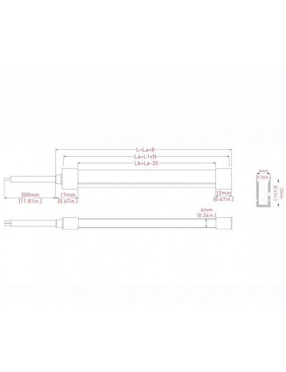 Neon Led Flessibile 10mt 100W 2600 Lumen 4000K 24V IP65 -