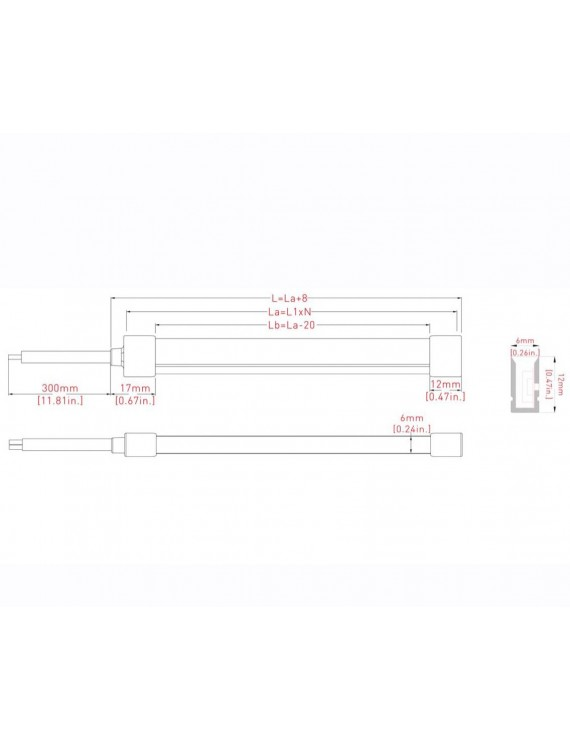 Neon Led Flessibile 10mt 100W 2600 Lumen 6000K 24V IP65 -