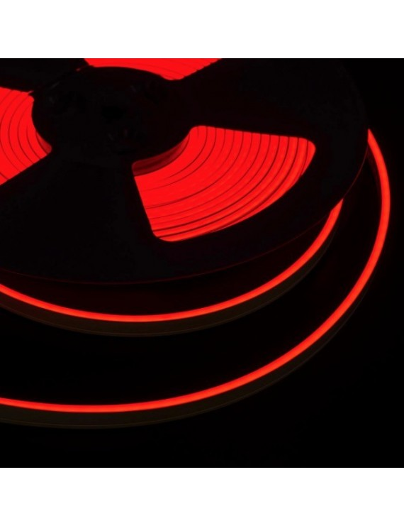 Neon Led Flessibile 10mt 100W Luce Rossa 24V IP65 - Tagliabile